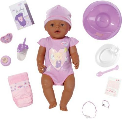 BABY born Interactive Puppe farbig