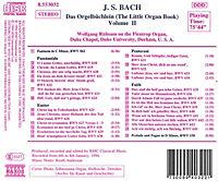 BACH, J.S.: Orgelbüchlein (Das), Vol. 2 - Produktdetailbild 1