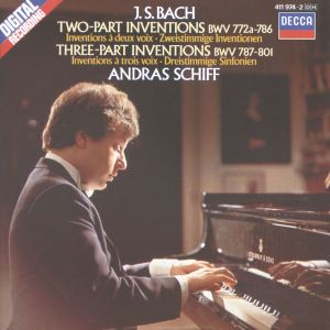 Bach, J.S.: Two and Three Part Inventions, Andras Schiff