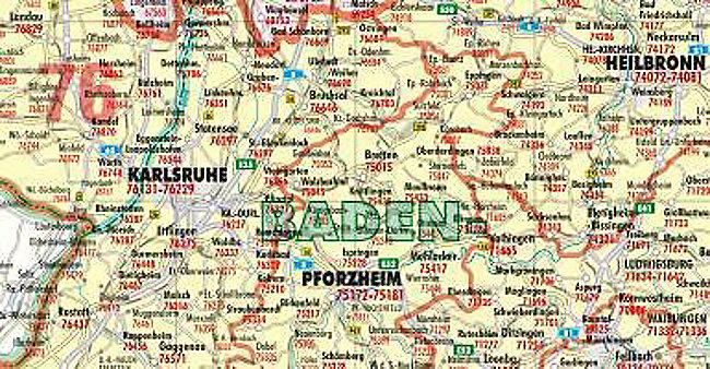 Postleitzahlen Karte.Bacher Postleitzahlen Karte Deutschland Posterlandkarte Beschichtet