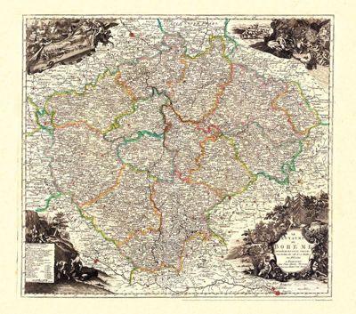 Back, J: Historische Karte: Königreich BÖHMEN (Bohemia) 1760, Jean Conrad Back