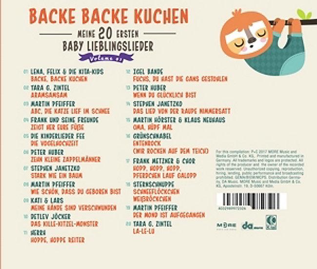 Backe Backe Kuchen Meine 20 Ersten Baby Lieblings Weltbild De