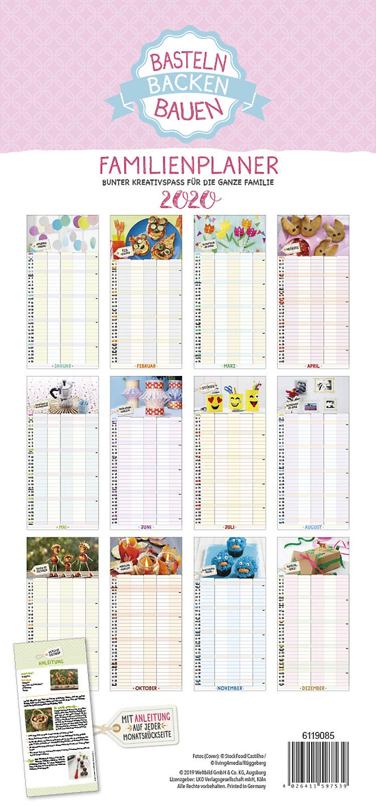 Backenbastelnbauen Familienplaner 2020 Kalender Bestellen