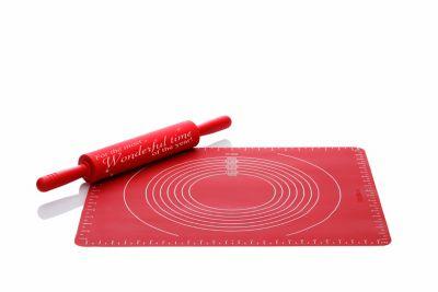 Backmatte und großer Teigroller 2er Set