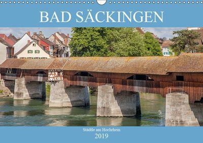 Bad Säckingen - Städtle am Hochrhein (Wandkalender 2019 DIN A3 quer), Liselotte Brunner-Klaus