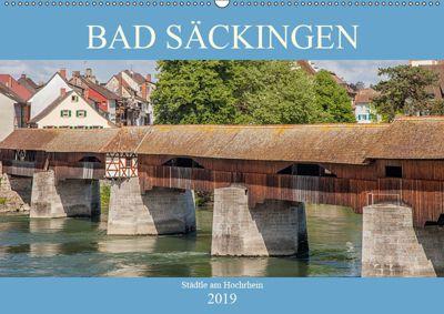 Bad Säckingen - Städtle am Hochrhein (Wandkalender 2019 DIN A2 quer), Liselotte Brunner-Klaus