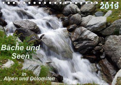 Bäche und Seen in Alpen und Dolomiten (Tischkalender 2019 DIN A5 quer), Thilo Seidel