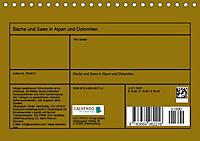 Bäche und Seen in Alpen und Dolomiten (Tischkalender 2019 DIN A5 quer) - Produktdetailbild 13