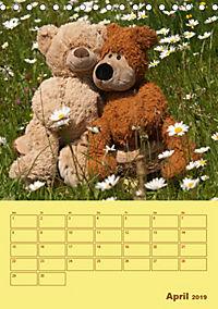 Bärenstarker Planer für das Jahr - Teddys (Tischkalender 2019 DIN A5 hoch) - Produktdetailbild 4