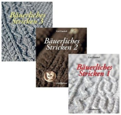 Bäuerliches Stricken, 3 Bände, Lisl Fanderl