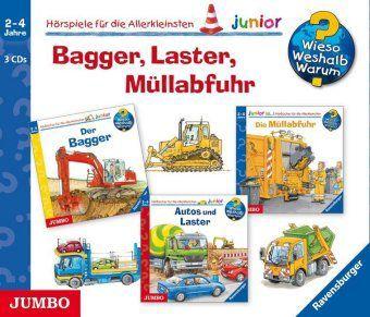Bagger, Laster, Müllabfuhr, 3 Audio-CDs, Andrea Erne, Peter Nieländer