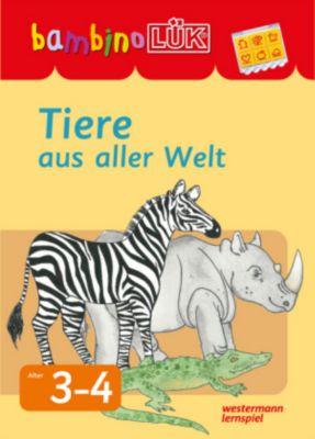 bambinoLÜK, m. bambinoLÜK-Lösungsgerät: Tiere aus aller Welt, Kontrollgerät mit Spiralbuchblock