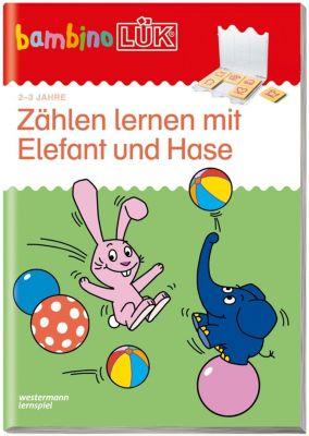 bambinoLÜK-Übungshefte: .19 Zählen lernen mit Elefant und Hase