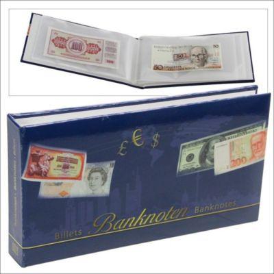 Banknoten-Taschenalbum mit 24 Einsteckblättern