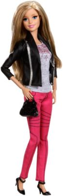 Barbie Deluxe-Moden Fashionistas Barbie mit pinker Jeans CFM76