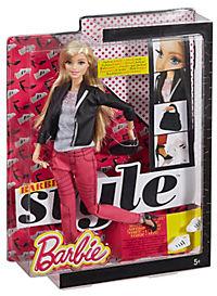 Barbie Deluxe-Moden Fashionistas Barbie mit pinker Jeans CFM76 - Produktdetailbild 2