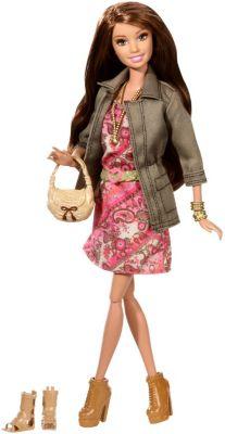 Barbie Deluxe-Moden Fashionistas Teresa mit Blumenkleid CFM78