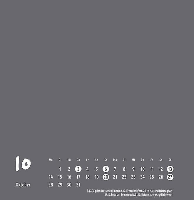 Kalender 2019 Groß