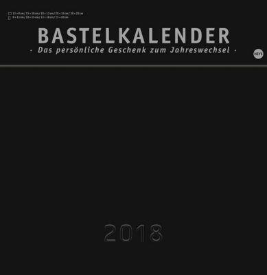 Bastelkalender, schwarz groß 2018