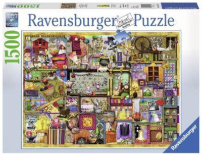 Bastelregal, Colin Thompson. Puzzle 1500-3000 Teile