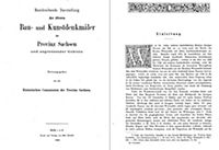 Bau- und Kunstdenkmäler des Kreises WEISSENFELS 1880 - Produktdetailbild 1