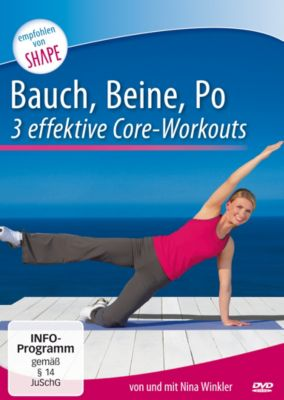 bauch beine po 3 effektive core workouts dvd. Black Bedroom Furniture Sets. Home Design Ideas