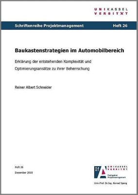 Baukastenstrategien im Automobilbereich - Erklärung der entstehenden Komplexität und Optimierungsansätze zu ihrer Beherrschung - Reiner Albert Schneider pdf epub