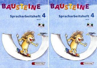 Bausteine Deutsch, Spracharbeitshefte: Spracharbeitsheft 4. Klasse, Teil A/B, 2 Bde. m. CD-ROM