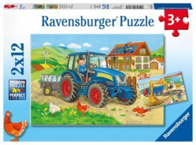 Baustelle und Bauernhof 2 X 12 Teile