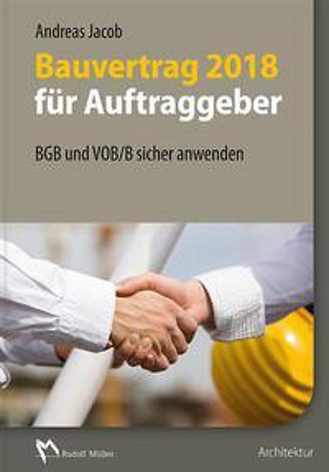 Bauvertrag 2018 Für Auftraggeber Buch Portofrei Bei Weltbildde
