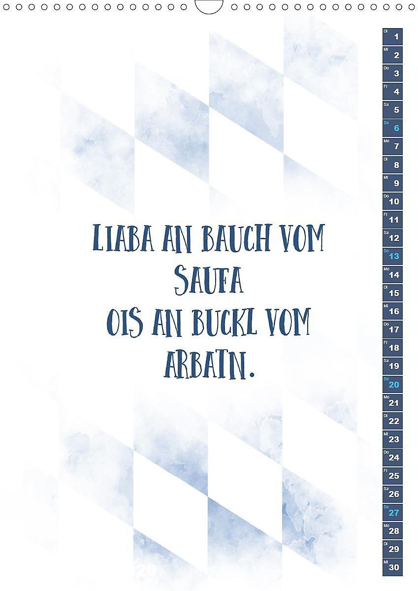 Bayrisch Zünftige Sprüche Wandkalender 2020 Din A3 Hoch
