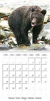 Bears funny moments (Wall Calendar 2019 300 × 300 mm Square) - Produktdetailbild 2