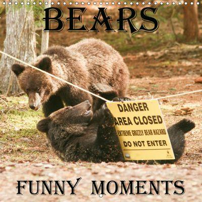 Bears funny moments (Wall Calendar 2019 300 × 300 mm Square), Ursula Salzmann