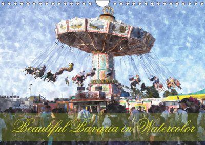 Beautiful Bavaria in Watercolor / UK-Version (Wall Calendar 2019 DIN A4 Landscape), Helmut Schneller