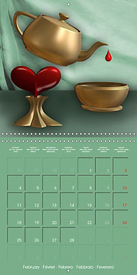 Beautiful Objects (Wall Calendar 2019 300 × 300 mm Square) - Produktdetailbild 2
