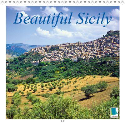 Beautiful Sicily (Wall Calendar 2019 300 × 300 mm Square), CALVENDO