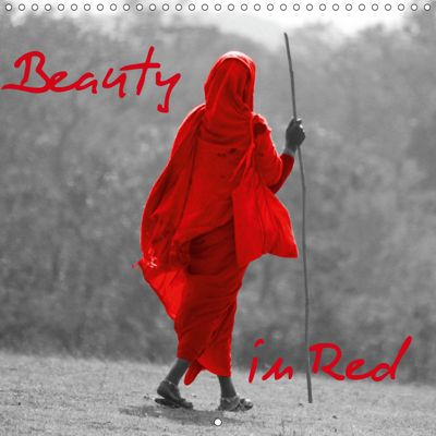 Beauty in Red (Wall Calendar 2019 300 × 300 mm Square), Angelika Kimmig