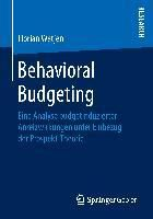 Behavioral Budgeting, Florian Wetjen