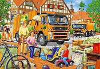 Bei der Müllabfuhr. Puzzle 2 x 24 Teile - Produktdetailbild 2