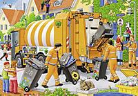 Bei der Müllabfuhr. Puzzle 2 x 24 Teile - Produktdetailbild 3