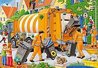 Bei der Müllabfuhr. Puzzle 2 x 24 Teile - Produktdetailbild 1