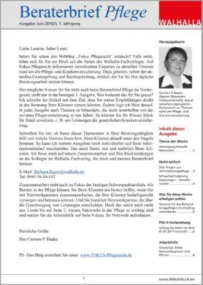Beraterbrief Pflege Ausgabe Juni 2016/3, Carmen P. Baake