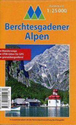 Berchtesgadener Alpen - Wanderkarte 1:25.000