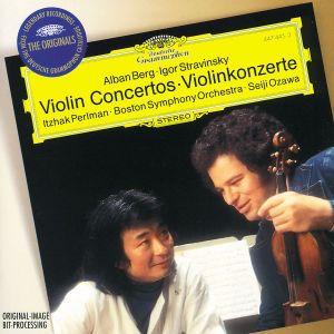 Berg / Stravinsky: Violin Concertos, Perlman, Ozawa, Bso, Mehta, Nypo