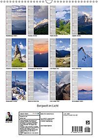 Bergwelt im Licht (Wandkalender 2019 DIN A3 hoch) - Produktdetailbild 13
