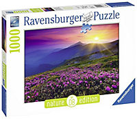 Bergwiese im Morgenrot, Nature Edition. Puzzle 1000 Teile - Produktdetailbild 1