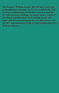Berliner Schriften (1818-1831) - Produktdetailbild 1