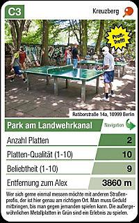 Berliner Tischtennisplatten Quartett Spiel - Produktdetailbild 2