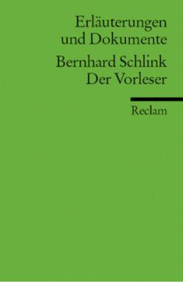 Bernhard Schlink 'Der Vorleser', Bernhard Schlink