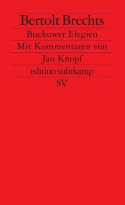 Bertolt Brechts 'Buckower Elegien', Bertolt Brecht